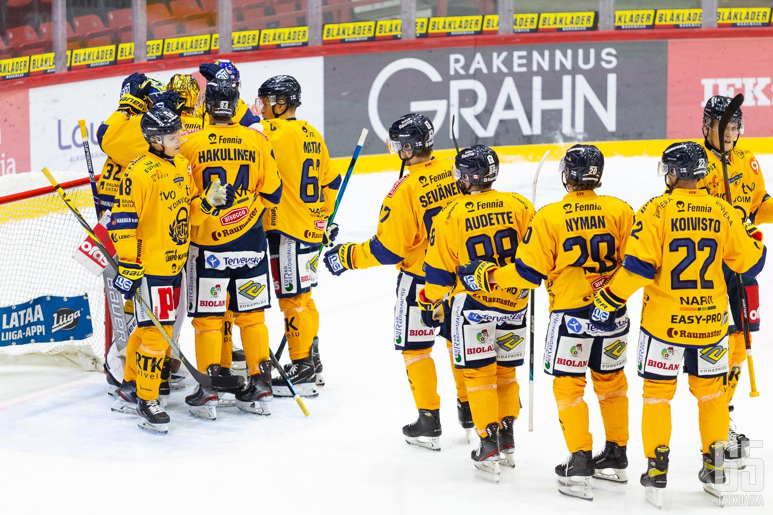 Lukko ottelussa HIFK - Lukko, 16/10/2020, Helsingin jäähalli, Helsinki, Suomi. Photo: Joonas Kämäräinen