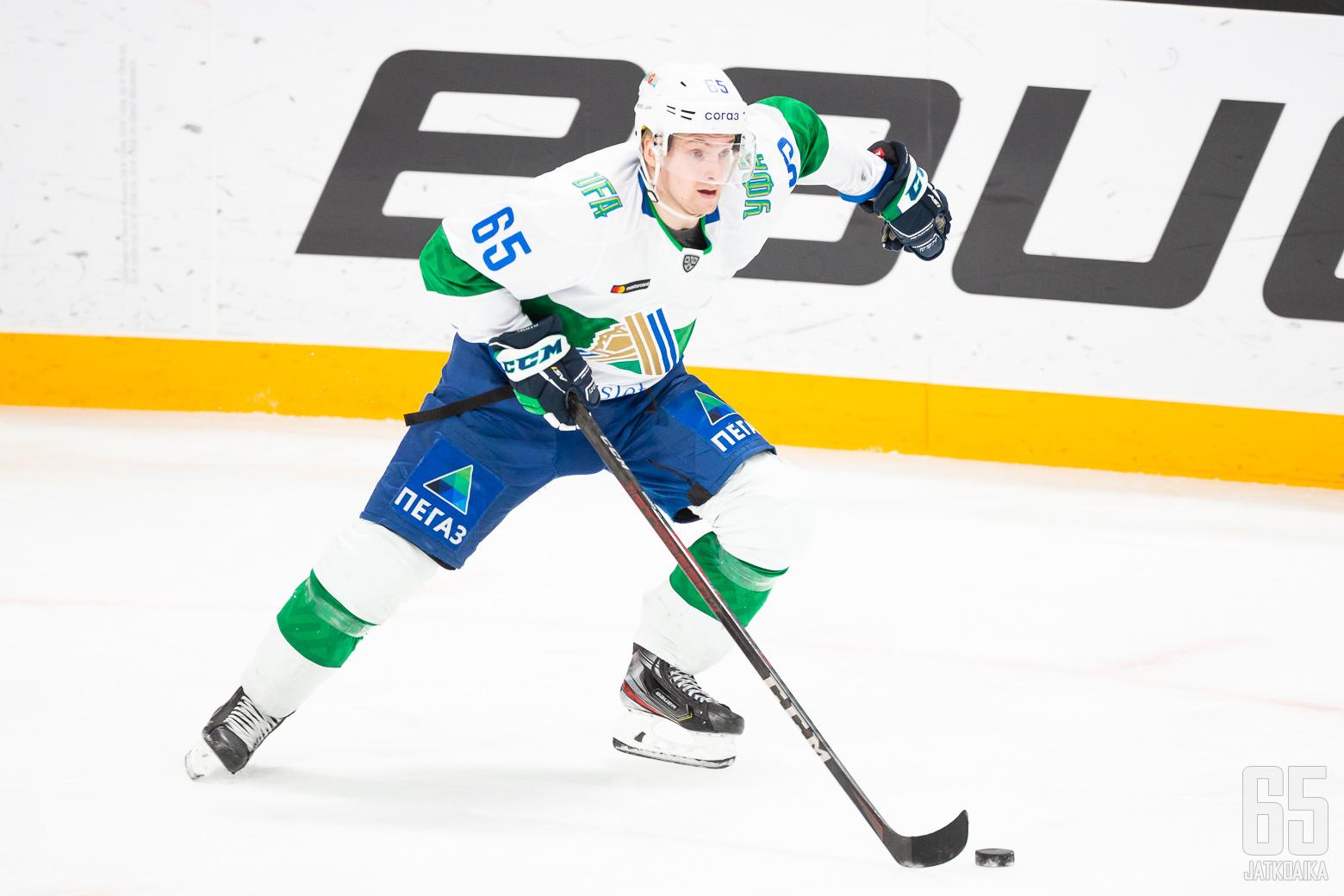 Sakari Manninen, Salavat Julajev Ufa ottelussa Jokerit - Ufa, 2/12/2020, Hartwall Arena, Helsinki, Suomi. Photo: Joonas Kämäräinen