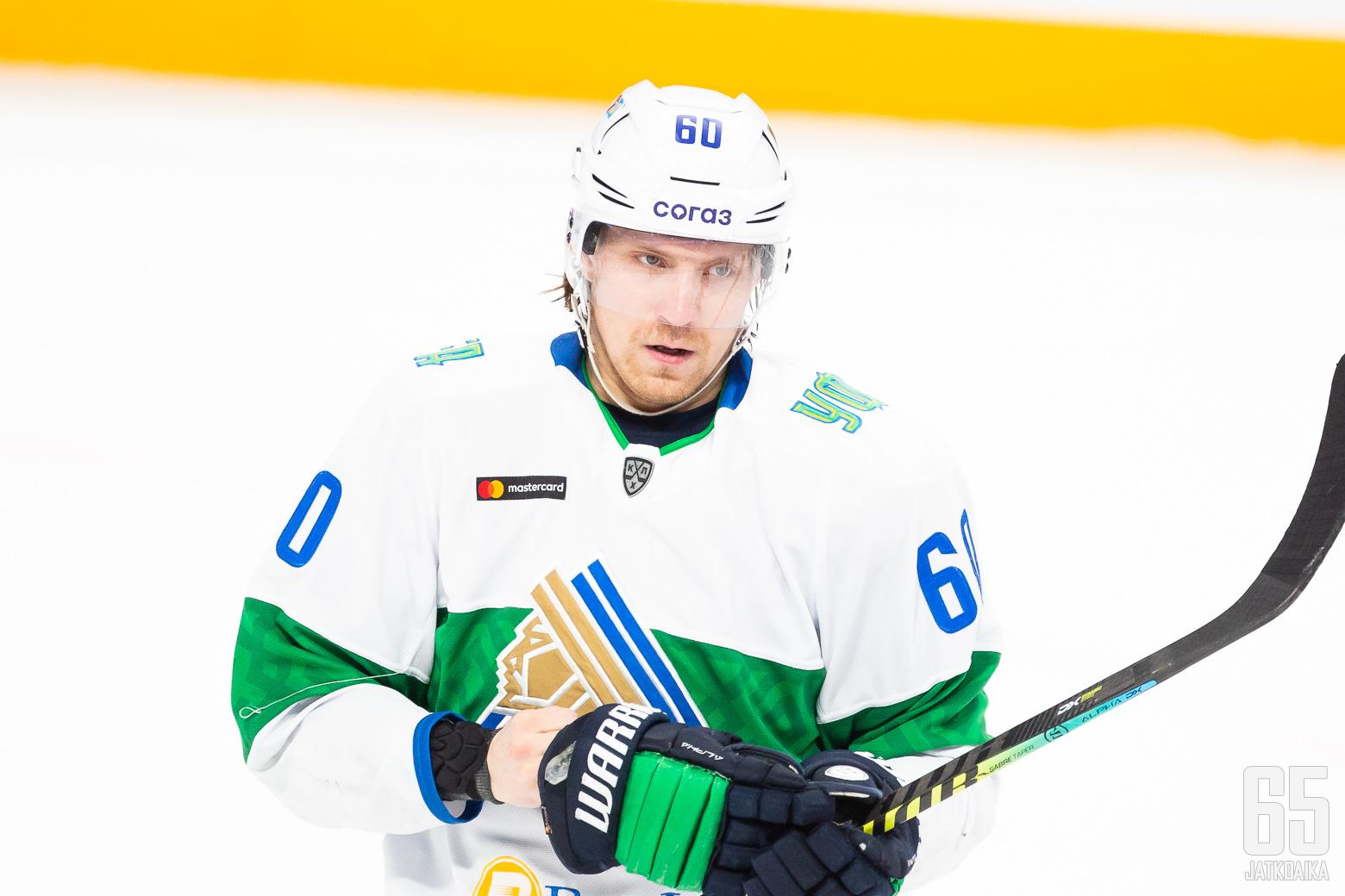 Markus Granlund, Salavat Julajev Ufa ottelussa Jokerit - Ufa, 2/12/2020, Hartwall Arena, Helsinki, Suomi. Photo: Joonas Kämäräinen