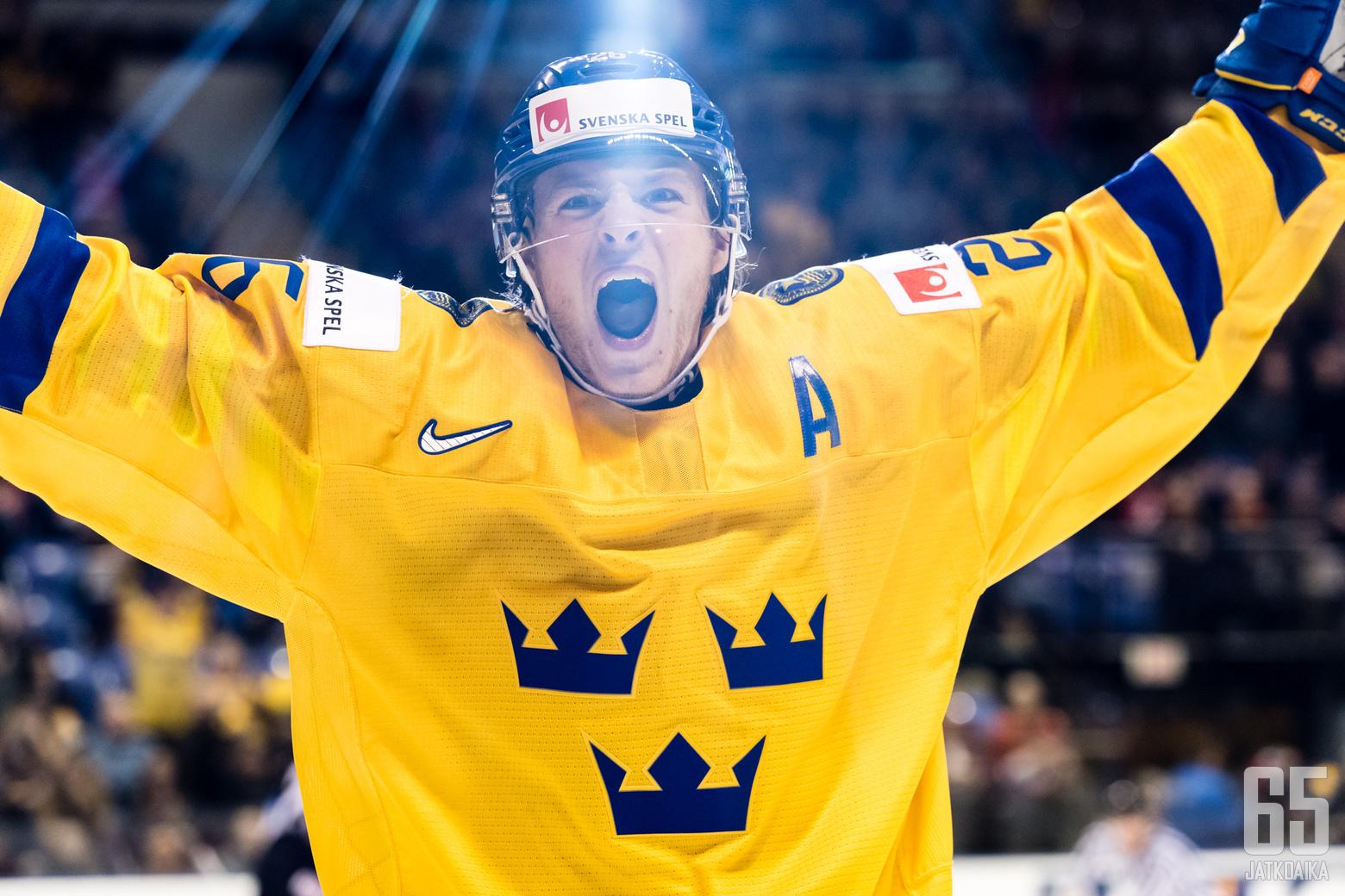 jääkiekon Nuorten MM-kisojen ottelussa Ruotsi - USA, Save-On-Foods Memorial Centressä, 30. joulukuuta 2018.