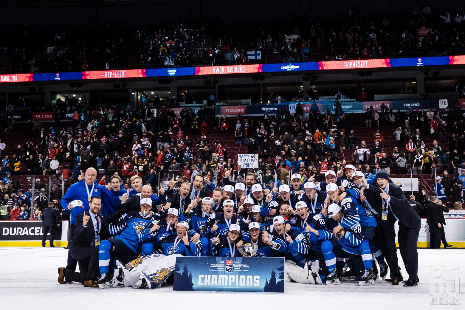 jääkiekon Nuorten MM-kisojen ottelussa USA - Suomi, Rogers Arenassa, 5. tammikuuta 2019.