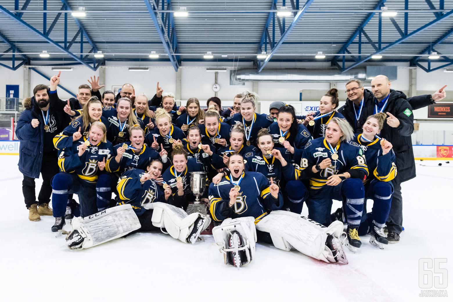 Naisten Liigan 3. finaaliottelussa Blues - Ilves, Espoonlahden jäähallissa, 21. maaliskuuta 2019.