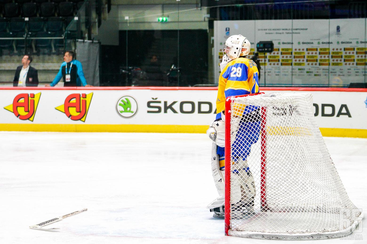 20190429 Tallinna, ESTONIA. IIHF 1B: POL - UKR.Photo: Samppa Toivonen