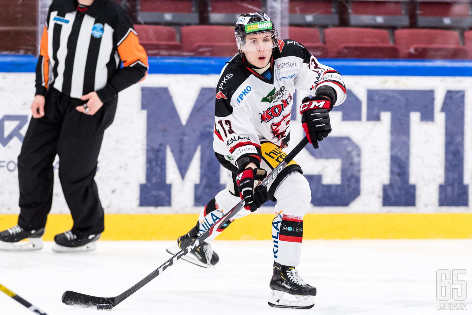 Jokipoikien Terry And (13) Mestis-ottelussa K-Vantaa - Jokipojat, Trio Areenalla, 15. tammikuuta 2020.