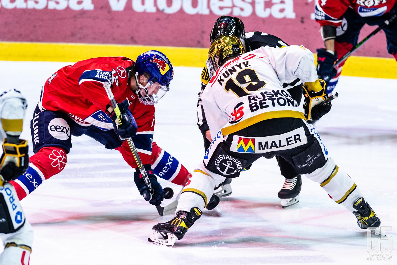 Liigan 2. puolivälieräottelussa HIFK - Kärpät, Helsingin jäähallissa, 20. huhtikuuta 2021.