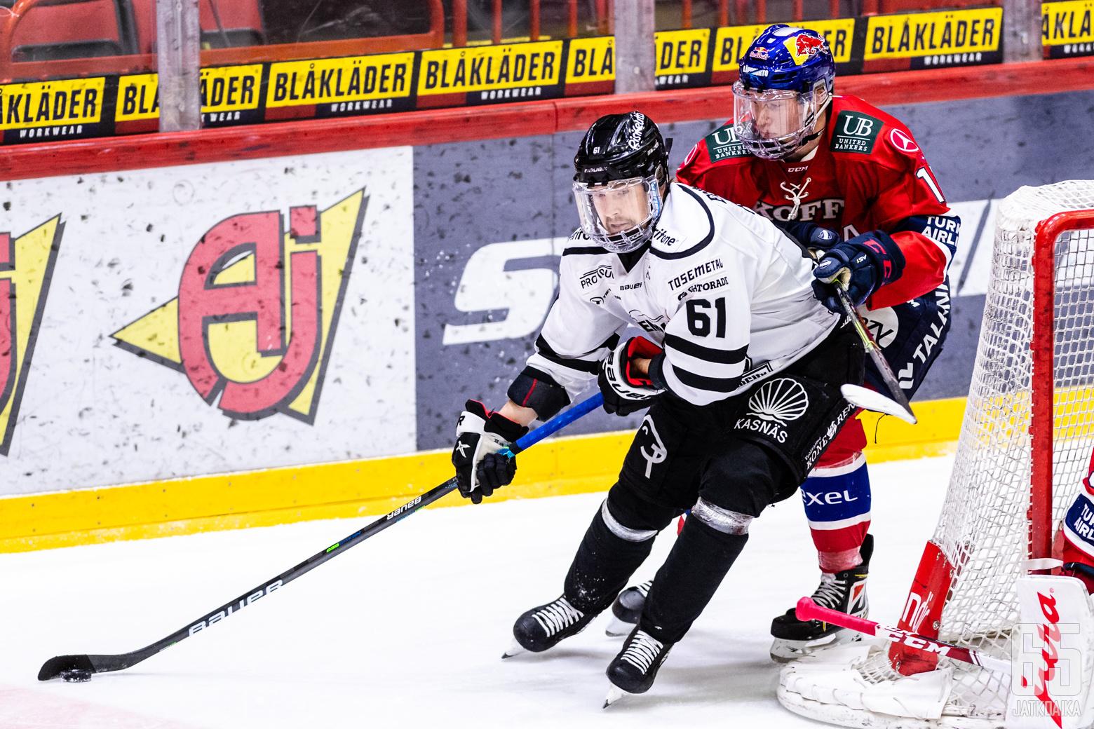Liigan 1. välieräottelussa HIFK - TPS, Helsingin jäähallissa, 29. huhtikuuta 2021.
