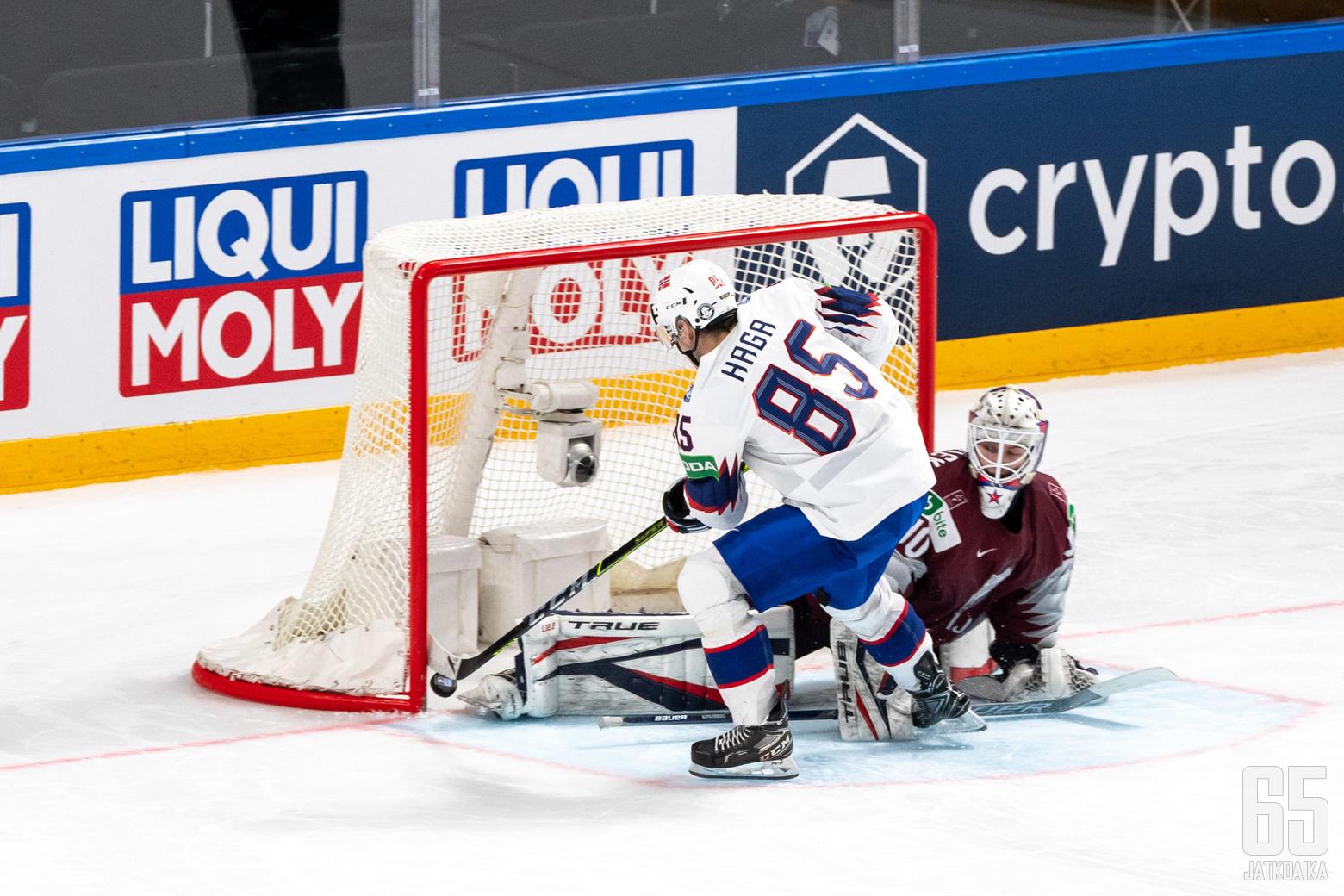 Norja voitti Latvian voittolaukauksilla 4-3.