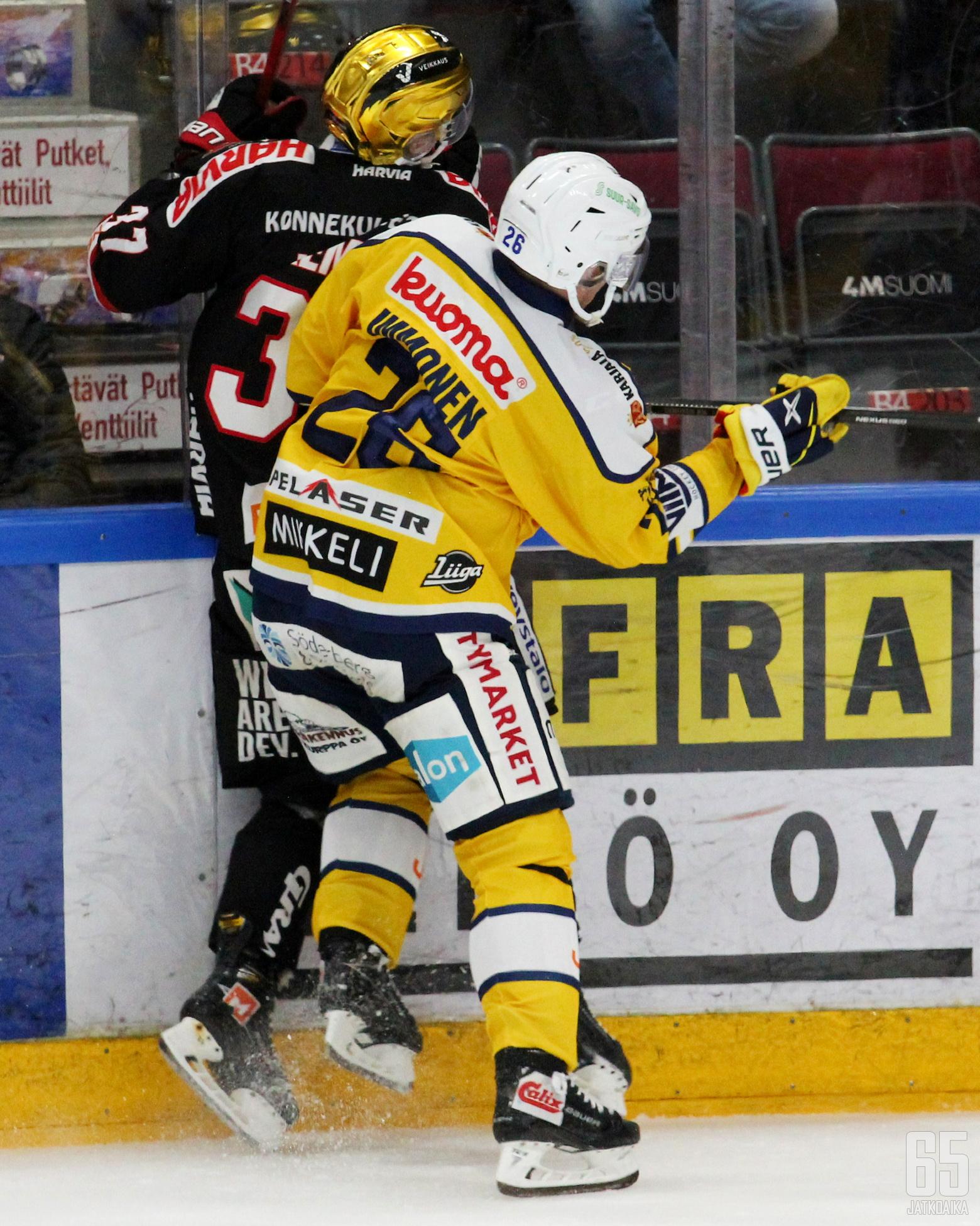 Jarkko Immonen ja Joakim Kemell ottivat yhteen torstai-illan taistelussa. Tällä kerralla tuleva mestari poistui kaukalosta voittajana.