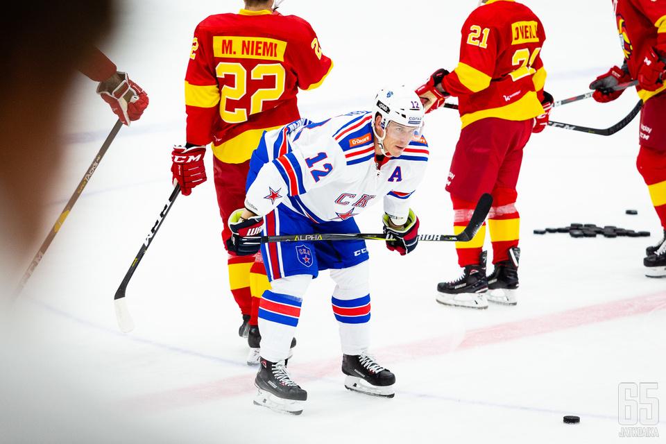 Jori Lehterä edustaa nykyään Pietarin SKA:ta KHL:ssä.