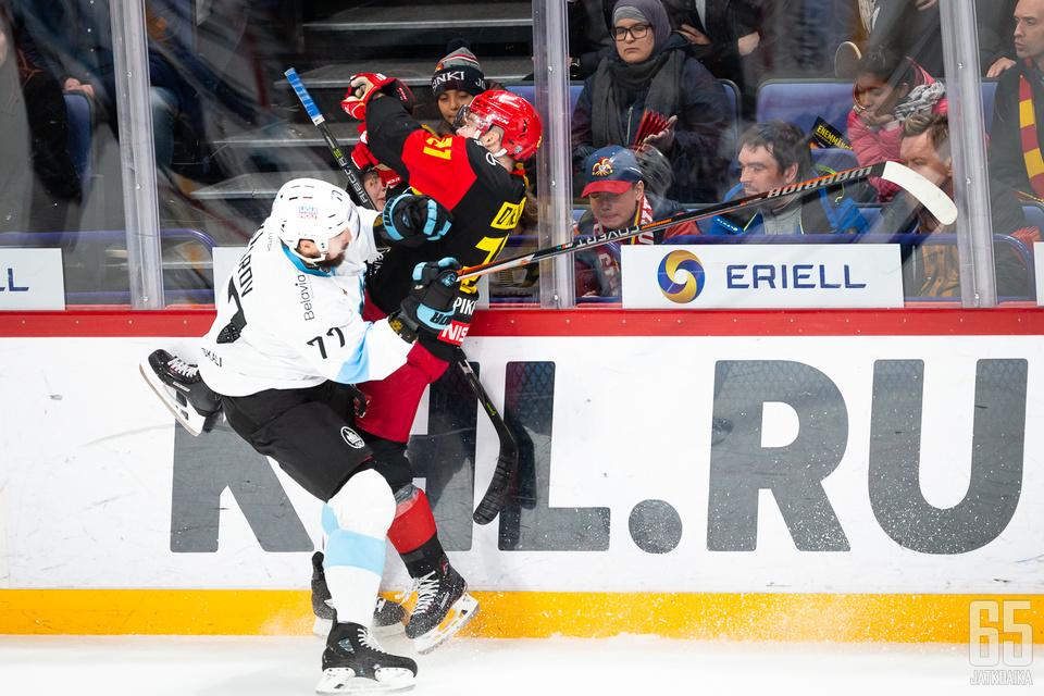 Jokerien ja Dinamo Minskin välinen ottelu on merkitty KHL:n otteluohjelmaan perutuksi.
