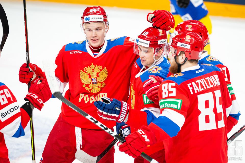 Venäjän A-maajoukkue on viimeksi nähty Suomessa Karjala-turnauksessa.