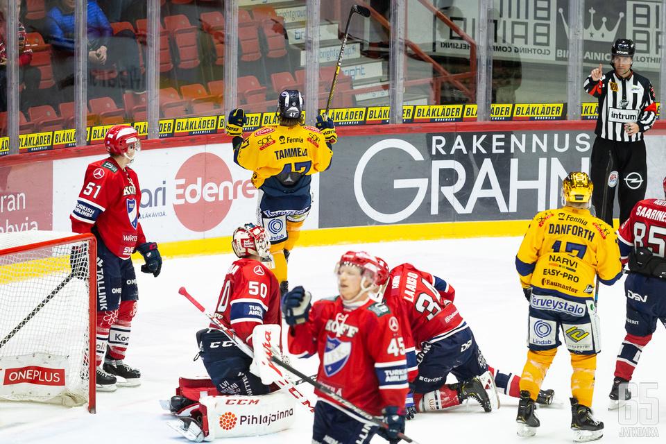 Jonne Tammela iski kaksi maalia HIFK:n verkkoon.