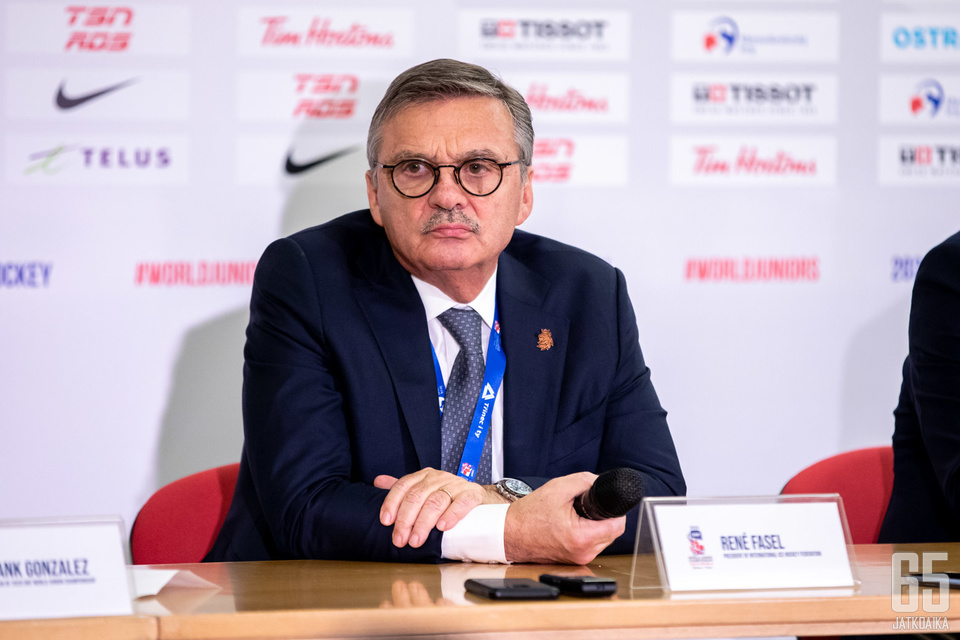 René Fasel on IIHF:n puheenjohtaja.