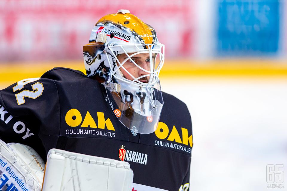 Patrik Rybár oli voiton takuumies Kärppien kaataessa Sportin.
