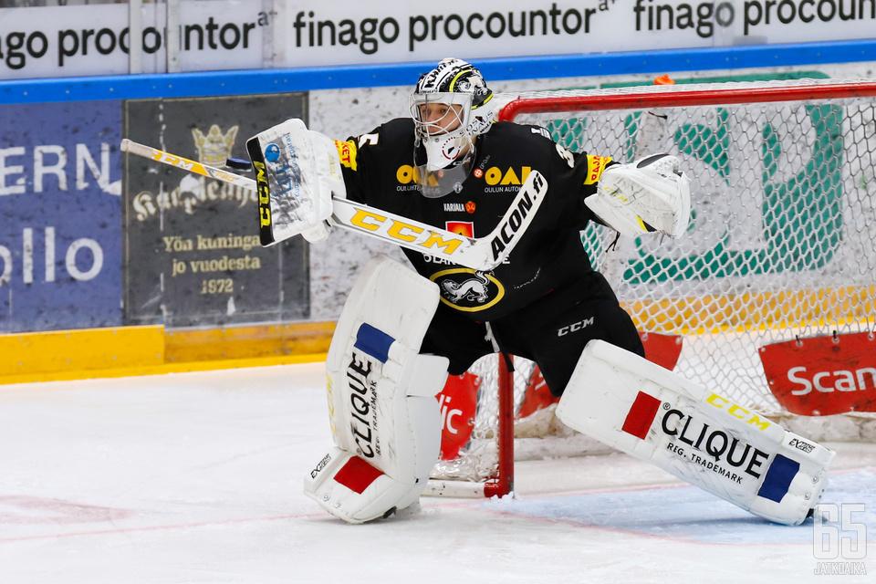 Veini Vehviläinen pelasi kauden viidennen nollapelinsä Liigassa.