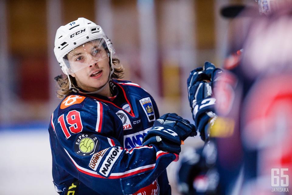 SaPKon Jaakko Lantta pelasi hyvän ottelun.