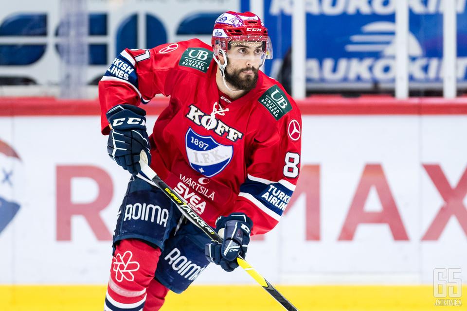 Lessio ehti urakoida HIFK-sotisovassa yhteensä 21 ottelun edestä.