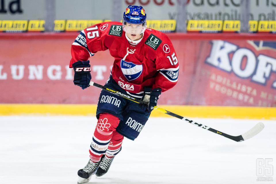 HIFK:n nuori tähtipelaaja Anton Lundell