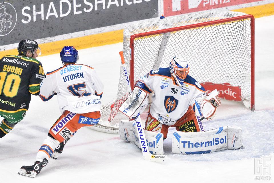Ilves ohitti Bäckströmin vain kerran.