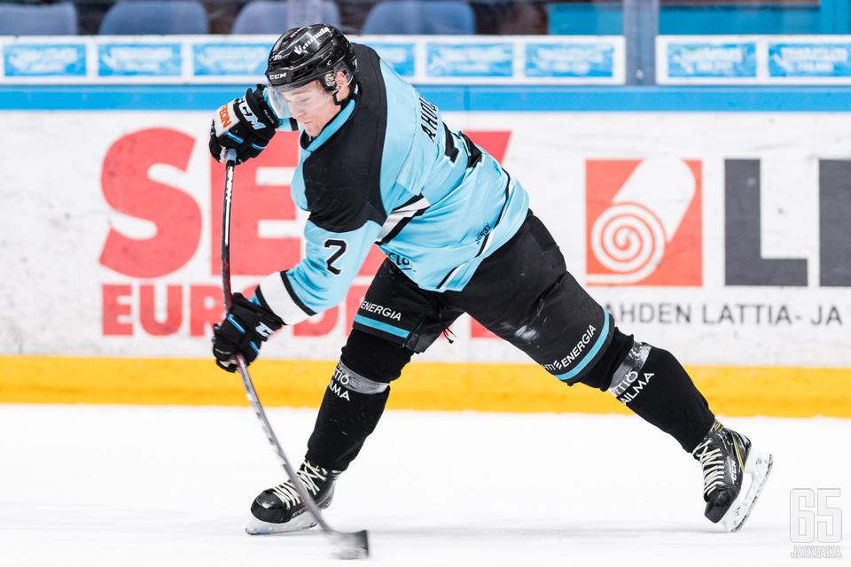 Ahola pelasi tehokkaan kauden Nuorten SM-Liigassa.