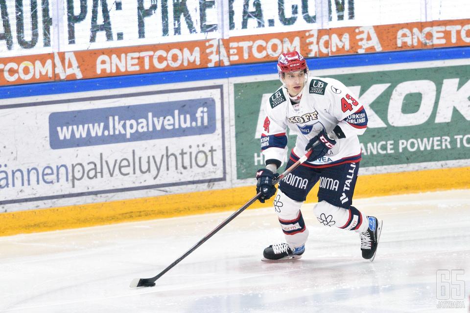 Salminen sai pronssipelissä syöttöpisteen HIFK:n avausmaaliin.