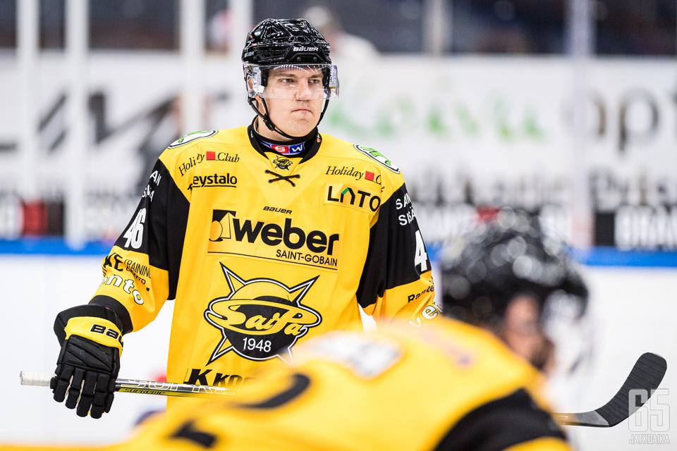 Teemu Ramstedt tulevan kauden seuransa SaiPan paidassa.