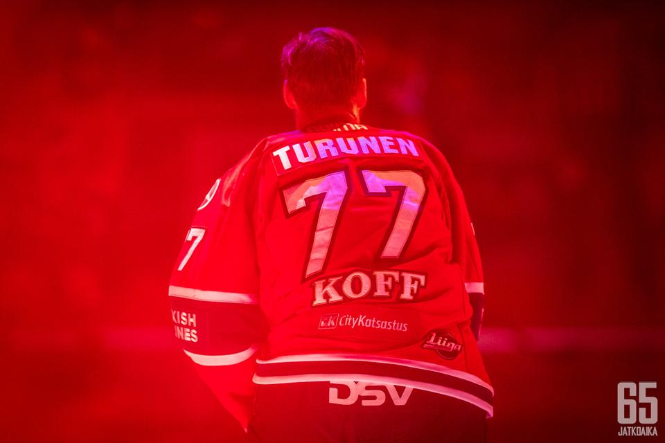 Turunen oli kahdella edellisellä liigakaudella tehokkaimpia pelaajia.