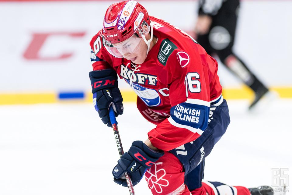 Jere Sallinen nousi HIFK:n parhaimmaksi maalintekijäksi.