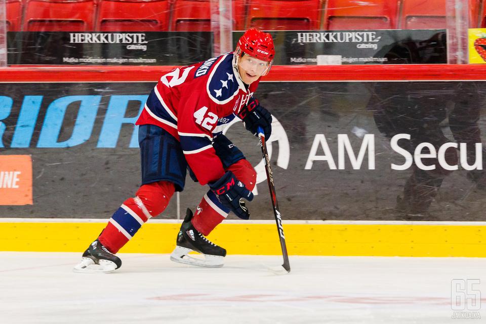 Rasmus Heljanko loukkaantui.