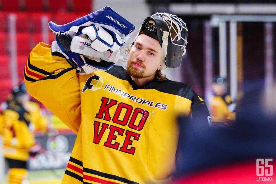 Tamminen pelasi Kooveessa viime kaudella ensimmäiset Mestis-ottelunsa.