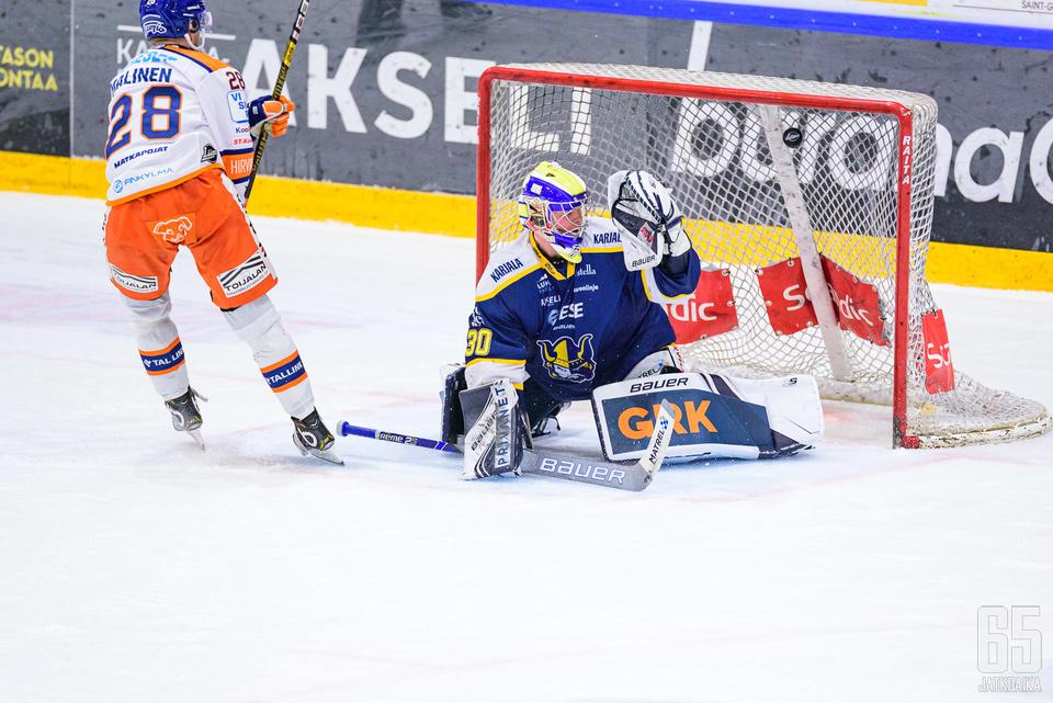 Jarkko Malinen ratkaisi kaksi pistettä Tapparalle.
