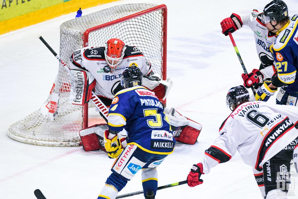 Sami Aittokallio loisti Mikkelissä, mutta joutui jättämään ottelun kesken.