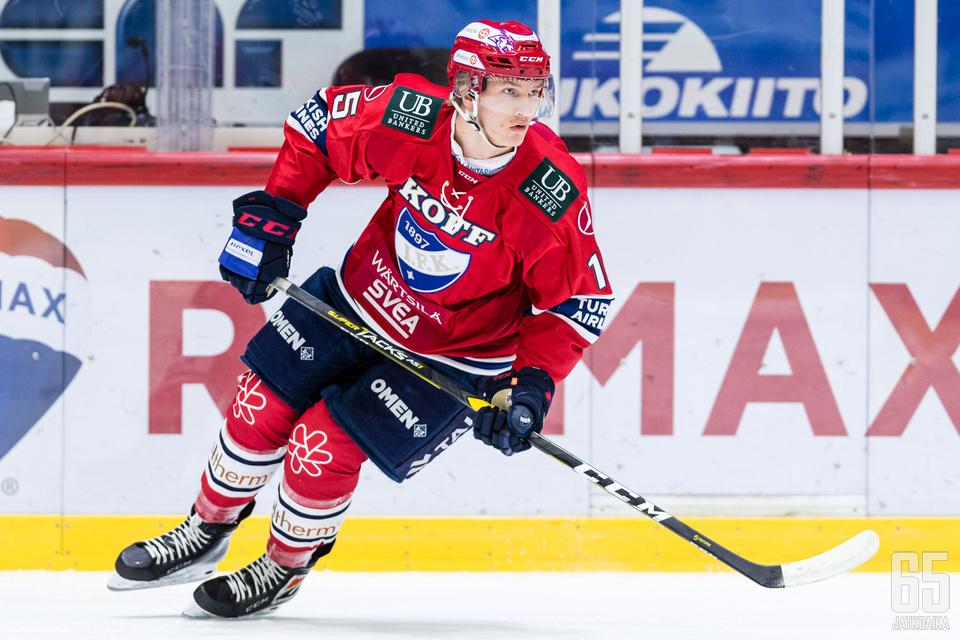 Anton Lundell oli ratkaisevassa roolissa HIFK:n voitossa.