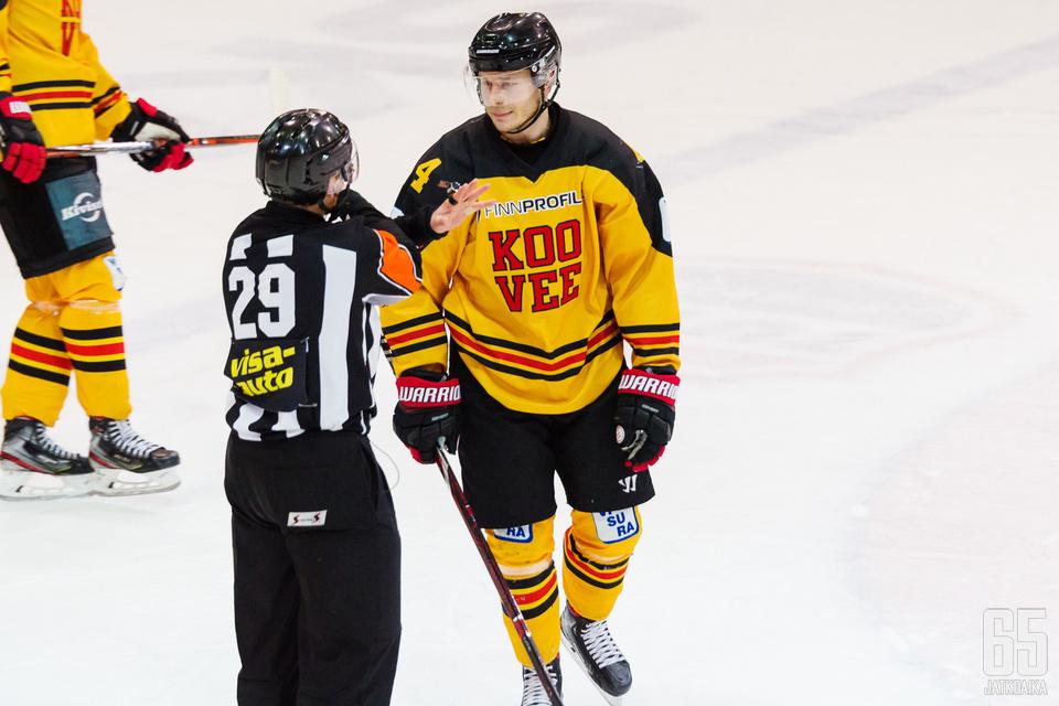 Anton Ollikainen on kerännyt jäähyjä kolmanneksi eniten joukkueestaan.