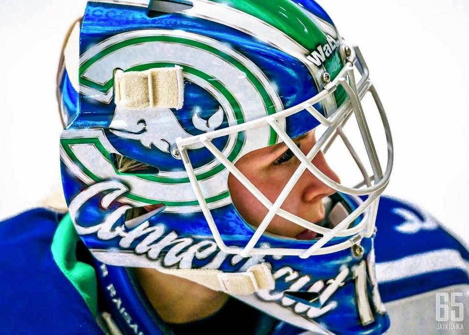 Meeri Räisänen pelaa NWHL-liigassa Connecticut Whalen riveissä.