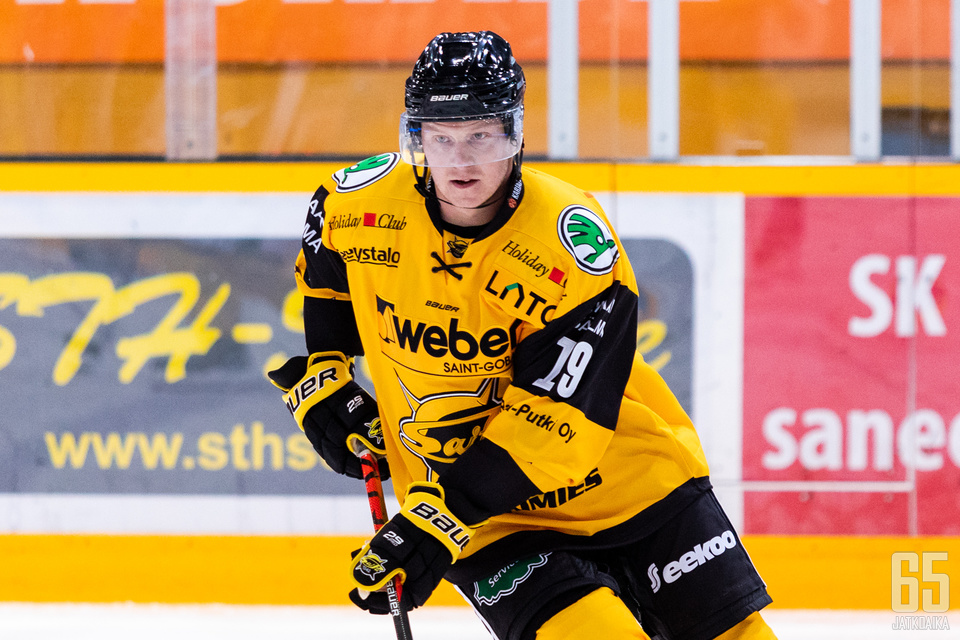 Tuomas Kiiskinen aloitti SaiPa-paidassa tehokkaasti.