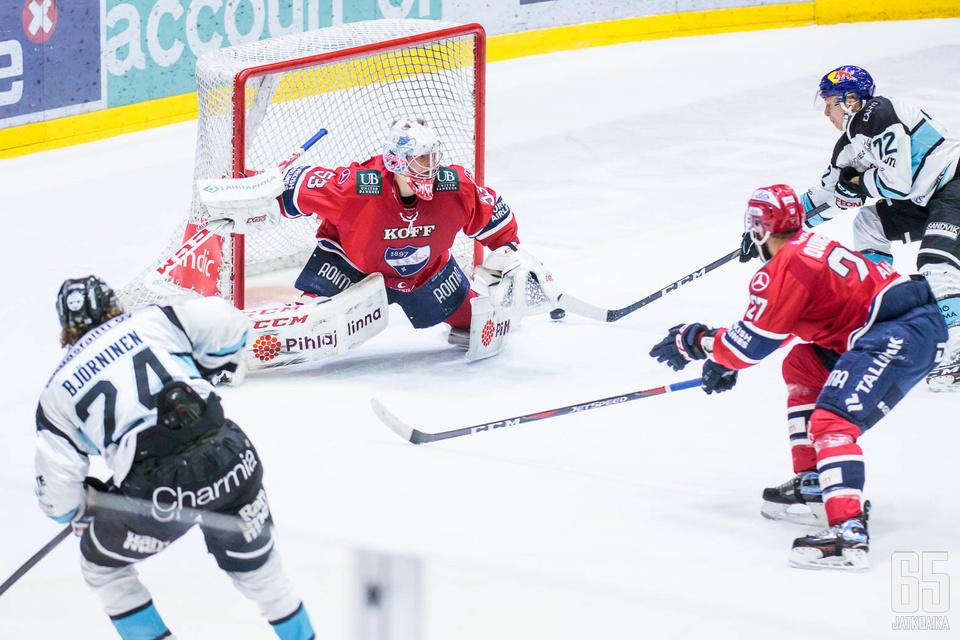 HIFK:lla on ollut vaikeuksia sekä viisikkopuolustuksessa että maalivahtipelissä.