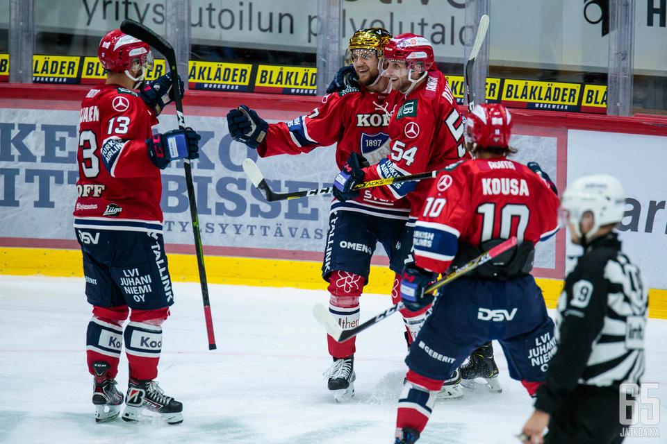 HIFK juhli keskiviikkoiltana Helsingissä.