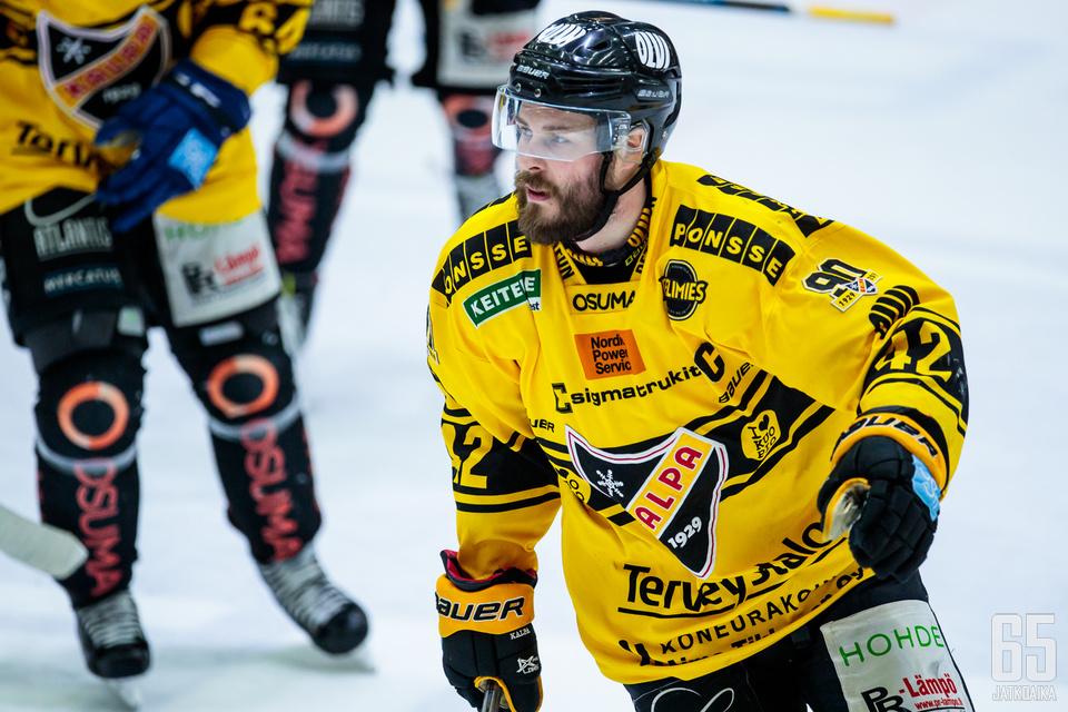 Tommi Jokinen iski KalPalle voittomaalin HIFK:ta vastaan.