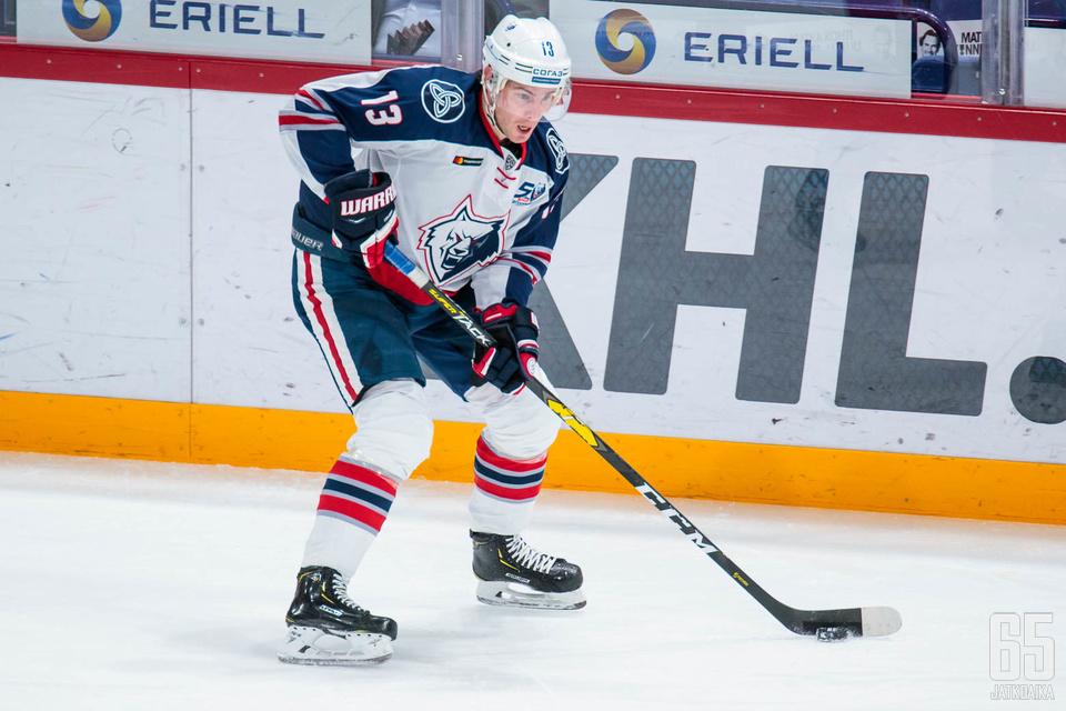 Mikael Ruohomaa viime kauden seuransa KHL:n Neftekhimik Nizhnekamskin paidassa.