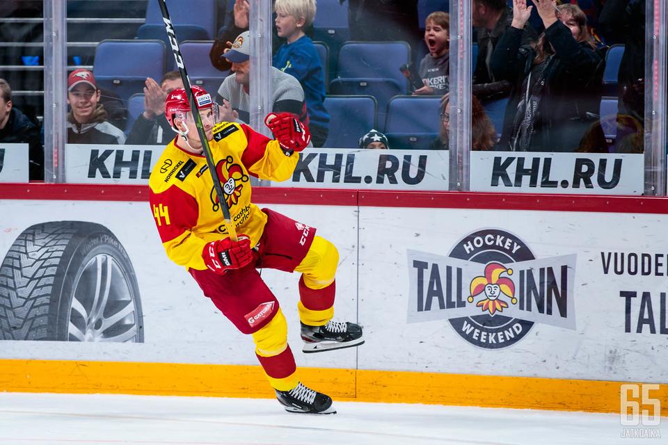 Mikko Lehtonen iski Jokereiden voittomaalin perjantain ottelussa.