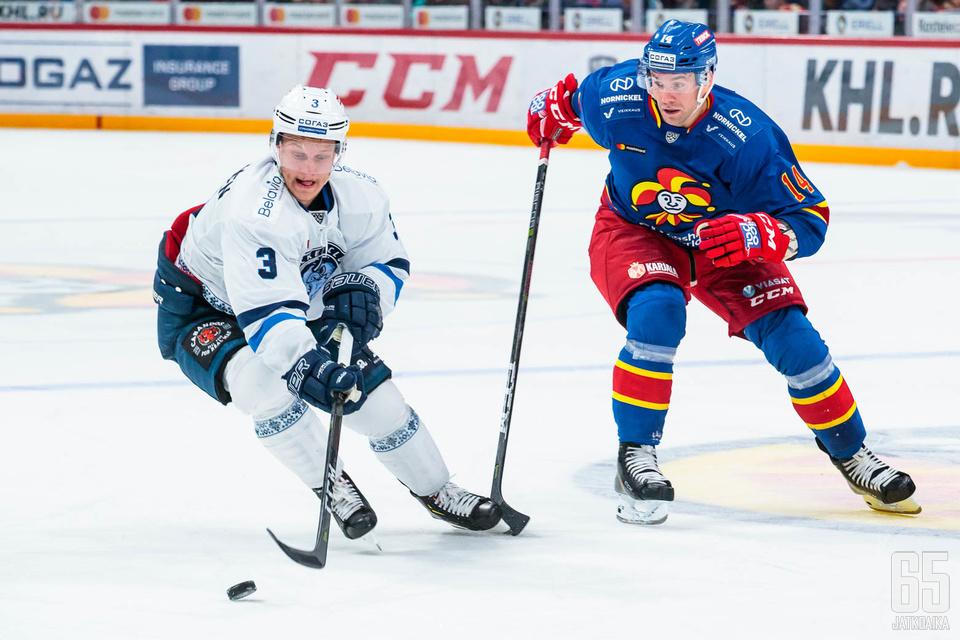 Pulkkinen kiekkoili viime kaudella Dinamo Minskissä.