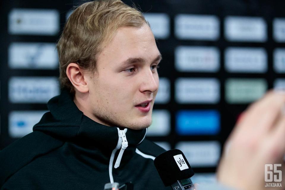 Kristian Vesalaisella on edessään ensimmäinen peli Jokereissa ja KHL:ssä.