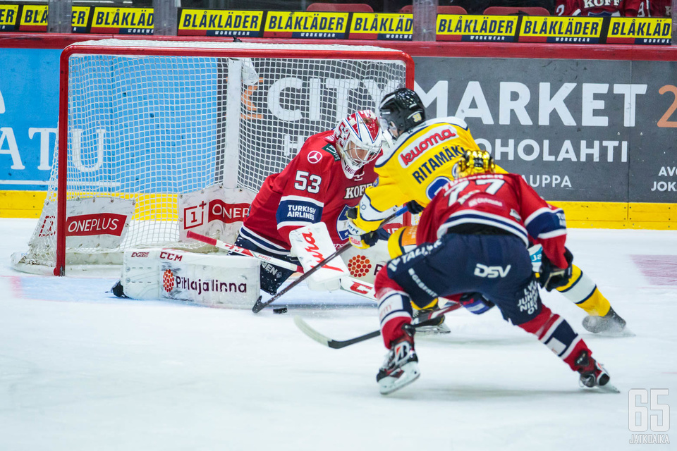 Janne Ritamäen toisen erän 1−1-alivoimamaalista alkoi Jukurien nousu voittoon.