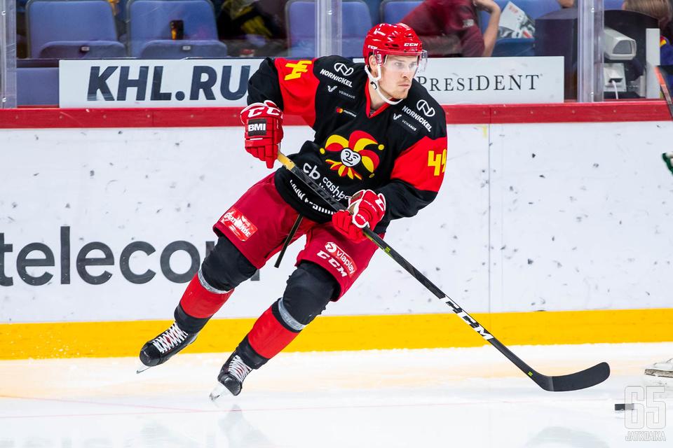 Mikko Lehtonen on aloittanut ensimmäisen KHL-kautensa erinomaisesti.