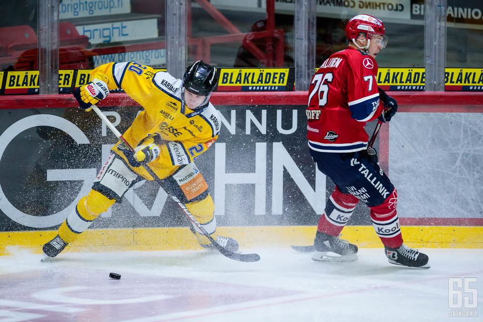 Patrik Puistola (1+1) oli keskiviikkona Helsingin jäähallin kuningas.