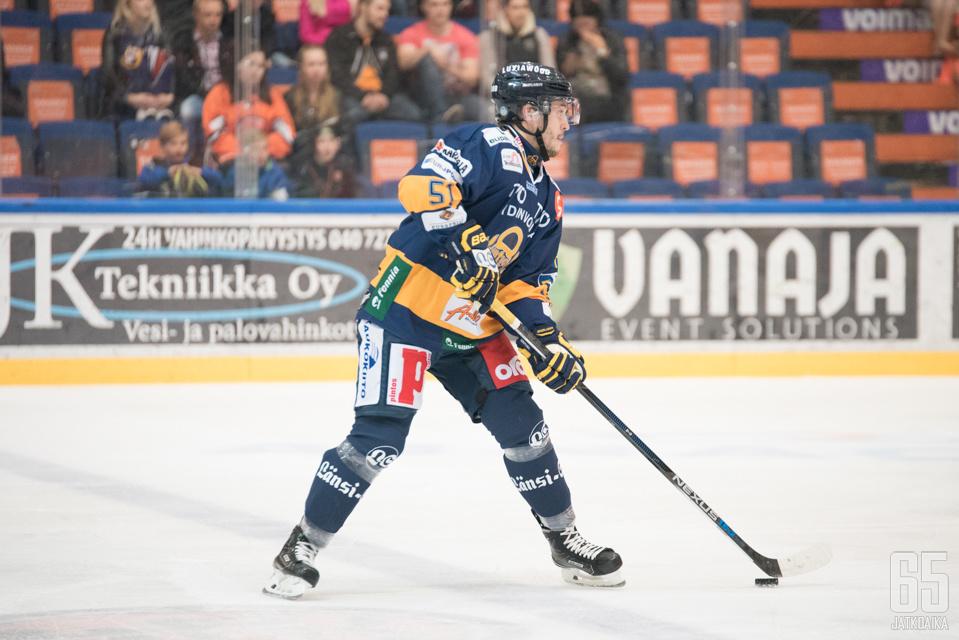 Jesse Virtanen kiekkoili viime kaudella Rauman Lukossa.