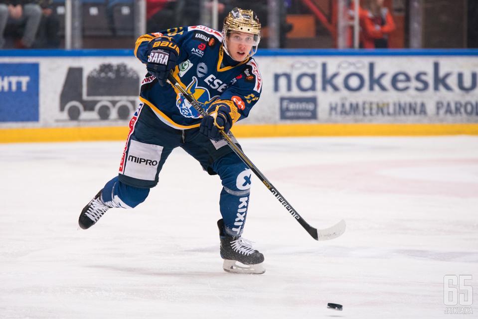Miika Koivisto on toinen joukkueen keltanokista.
