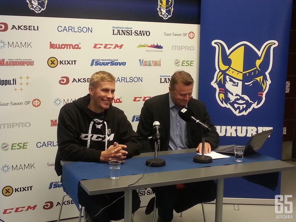 Kauppinen edustaa Jukureita myös Liiga-kentillä.