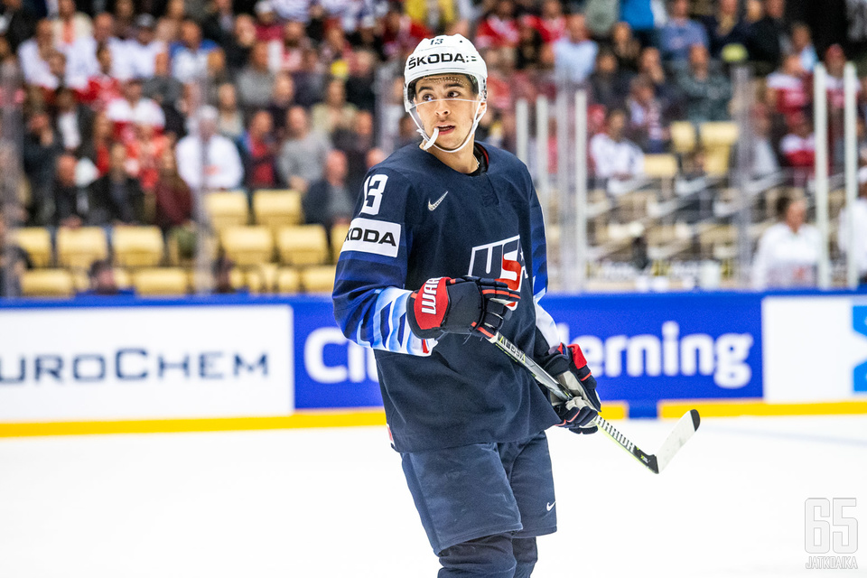 Johnny Gaudreau on tehnyt miesten MM-kisoissa seitsemään otteluun kahdeksan pistettä.